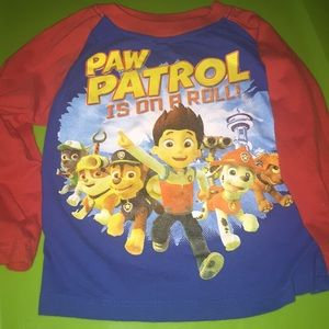 Paw patrol 2t long sleeve tee